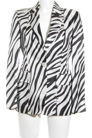Gucci Kurz-Blazer schwarz-weiß Animalmuster Elegant