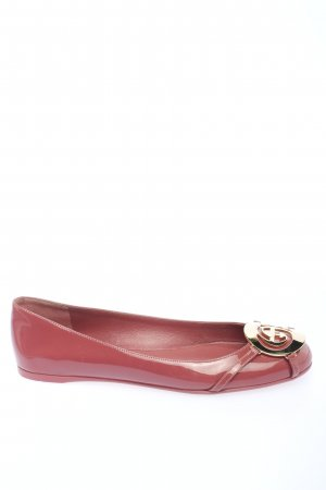 Gucci Patent Leather Ballerinas pink casual look