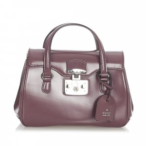 Gucci Lady Lock Leather Handbag