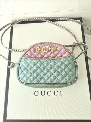 Gucci Sac à main vert clair-rose cuir