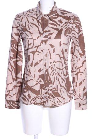 Gucci Langarmhemd braun-wollweiß abstraktes Muster Casual-Look