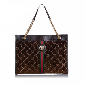 Gucci Large GG Velvet Rajah Tote Bag