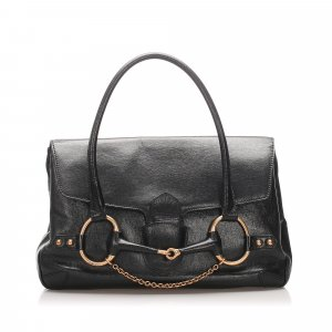 Gucci Large Horsebit Leather Handbag
