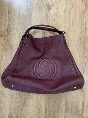 Gucci Pouch Bag bordeaux leather