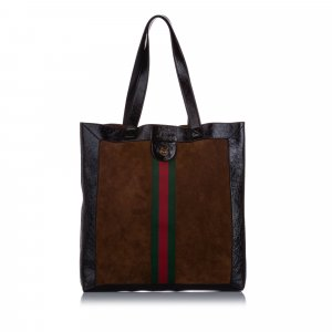 Gucci Large Ophidia Suede Tote Bag
