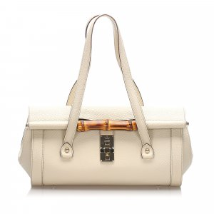 Gucci Leather Bamboo Bullet Bag