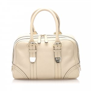 Gucci Leather Boston Bag