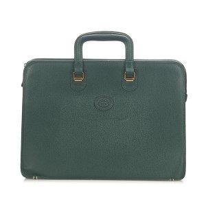 Gucci borsa ventiquattrore verde Pelle