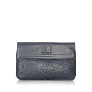 Gucci Borsa clutch blu Pelle