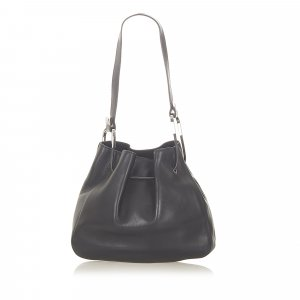 Gucci Leather Drawstring Hobo Bag