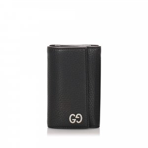 Gucci Leather GG Key Holder