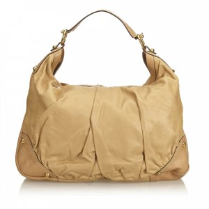 Gucci Leather Jockey Hobo