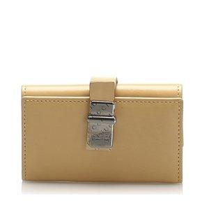 Gucci Étui porte-clés beige cuir