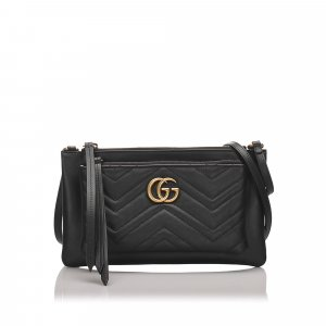 Gucci Leather Marmont Crossbody Bag