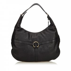 Gucci Leather Rein Hobo Bag