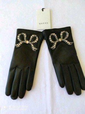 Gucci Gevoerde handschoenen zwart