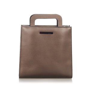 Gucci Sacoche brun foncé cuir