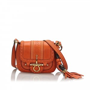 Gucci Leather Snaffle Bit Small Crossbody Bag
