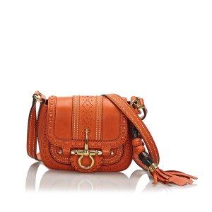 Gucci Sac bandoulière orange cuir