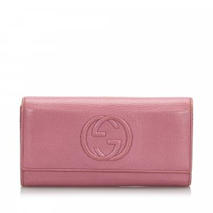 Gucci Leather Soho Continental Wallet