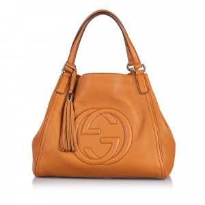 Gucci Leather Soho Tote Bag