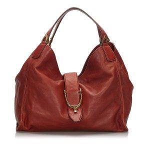 Gucci Leather Stirrup Handbag