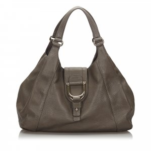 Gucci Leather Stirrup Handbag