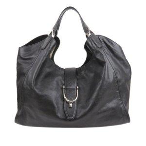 Gucci Leather Stirrup Tote Bag