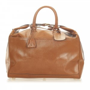 Gucci Travel Bag brown leather