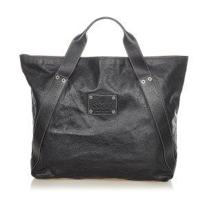 Gucci Bolso de viaje negro Cuero