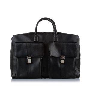 Gucci Travel Bag black leather