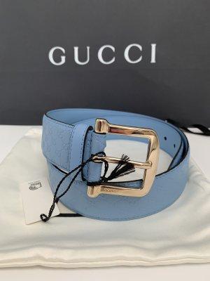 Gucci Cinturón azul celeste