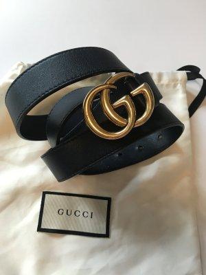 Gucci Leather Belt dark blue leather