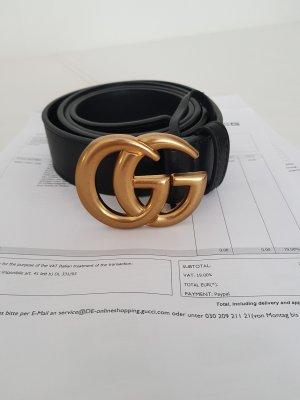 Gucci Cinturón negro-color oro