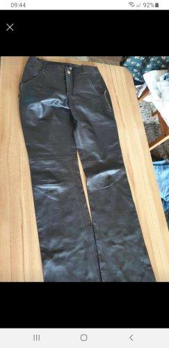 Gucci Pantalone in pelle marrone scuro