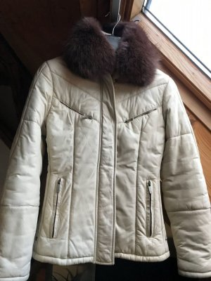 Gucci Leather Jacket oatmeal leather