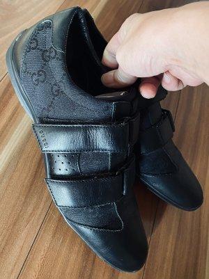 Gucci Leder sneaker schuhe schwarz gr 36