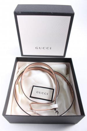 Gucci Leather Belt white casual look