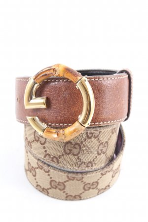 Gucci Lederen riem bruin gedrukte letters casual uitstraling