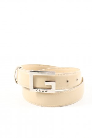 Gucci Leather Belt cream business style