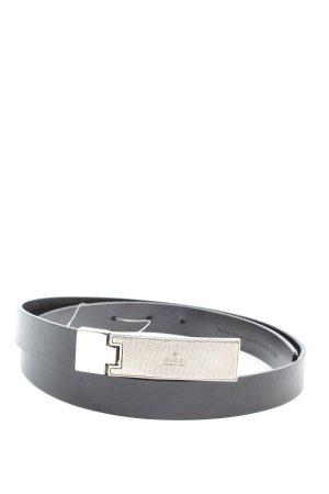 Gucci Cinturón de cuero negro estilo «business»