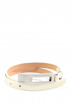 Gucci Leather Belt natural white casual look