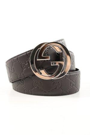 "Gucci Cinturón de cuero ""Men Signature Belt Leather"" marrón"