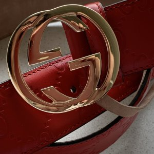 Gucci Lederen riem rood
