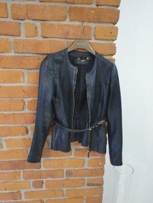 Gucci Skórzana kurtka czarny