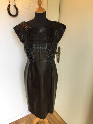 Gucci Robe en cuir noir cuir