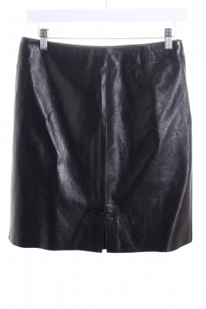 Gucci Leather Skirt black brown country style