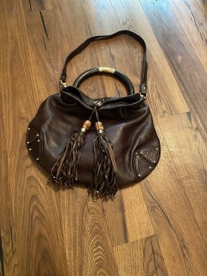 Gucci Carry Bag dark brown leather