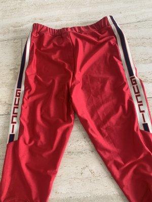 Gucci Legginsy czerwony