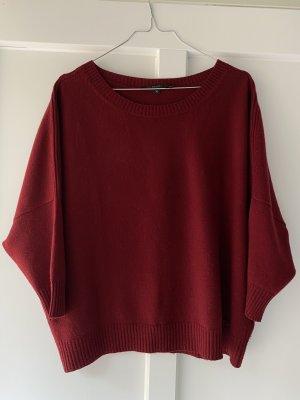Gucci Kaszmirowy sweter głęboka czerwień Kaszmir